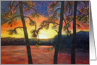 Fine Art Sunset Painted Sympathy Card