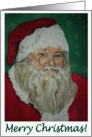 Merry Christmas Santa Watercolor card