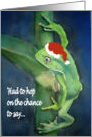 Frog Christmas Merry Christmas Tree Ornaments card