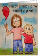 Happy Birthday Best Step-Son Ever Card