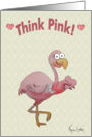 Happy Valentine's Day Pink Flamingo Heart Card
