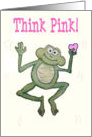 Happy Valentine's Day Pink Heart Frog Card