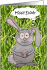 Happy Easter Cute Bunny Rabbit Egg Silly Card
