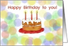 Happy Birthday Whimsical Cake Card