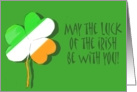 Irish Flag Colors Shamrock Clover Happy St. Patrick's Day Paper Card