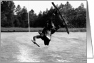 Wake Boarding Water Sports Funny Which Way is Up? Paper Greeting Note Card