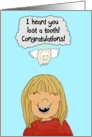 Lost Tooth Teeth Paper Greeting Card Girl card