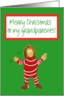 Merry Christmas Grandparents Girl Grandchild Grandaughter paper Card