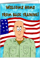 Welcome Home Congratulations Basic Training Paper Card