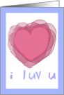 Whimsical Text I love You Heart Humor Valentine Card