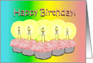 Happy Birthday 5 Cupcakes Candles card