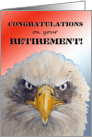Congratulations on Your Retirement Soldier Military Patriotic Eagle Card