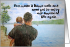 Military Deployment Home Safe Thank You for Your Service card