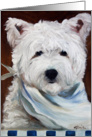 What's for Supper Westie West Highland Terrier card