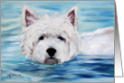 Westie West Highland Terrier Dog -Furry Dippin card