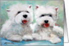 Westie West Highland Terrier Dog - Friends card