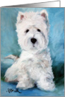 Westie West Highland Terrier Dog - Harry card