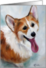 Pembroke Welsh Corgi Dog - Happy Boy card
