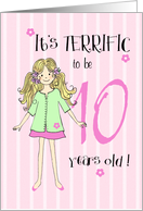 terrific to be 10 year old girl card