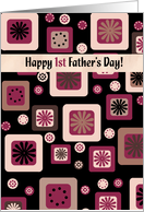 happy 1st father's day card