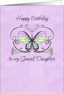Happy Birthday grand daughter card