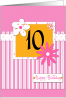 Happy Birthday 10 card