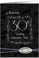 30th Anniversary invitation card