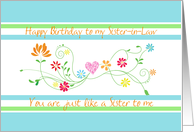 Happy Birthday Sister-in Law card