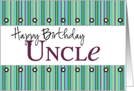 Happy Birthday uncle card