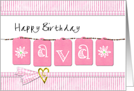 happy birthday Ava card