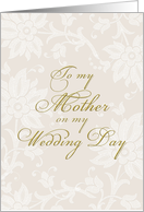 thank you Mother on my wedding day card