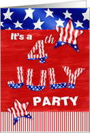 4th July Party card