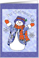 It's Christmas, snowman illustration card