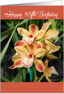 85th birthday orchids card