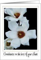 white magnolias loss of aunt card