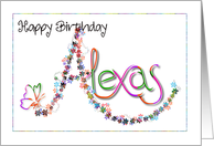 Alexas birthday card