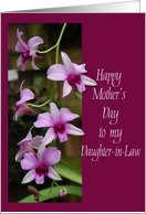 daughter-in-law mother's day pink orchids card