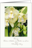 orchid future mother & father in law card