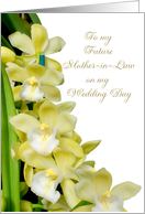 orchids to future mother in law on wedding day card