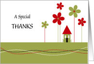 A special thanks with house card