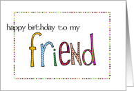 to my friend card