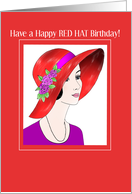 red hat Happy Birthday card