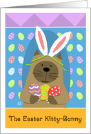 Easter Kitty Bunny Siamese card