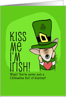 Kiss Me I'm Irish, St. Patrick's Day, Chihuahua card