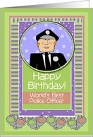 Happy Birthday, Police Officer, Male card