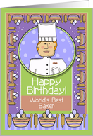 Happy Birthday, Baker, Male card