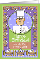 Happy Birthday, Pastry Chef, Male card