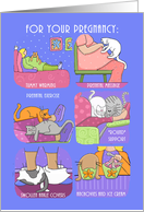 Pregnancy Maternity Prenatal Funny Cats card