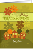 Happy Thanksgiving to Nephew Folk Art card