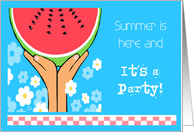 Summer is Here and It's a Party Invitation card